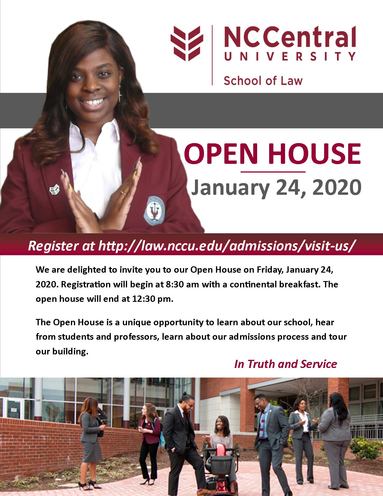 SPRING 2020 OPEN HOUSE @ NCCU School of Law